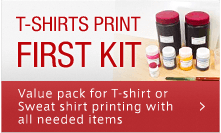 T-SHIRTS PRINT FIRST KIT Value pack for T-shirt or Sweat shirt printing with all needed items