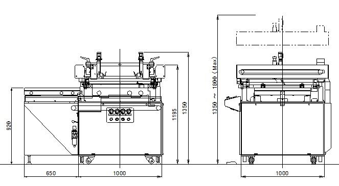 CPⅡコンパクトプリンター外形図