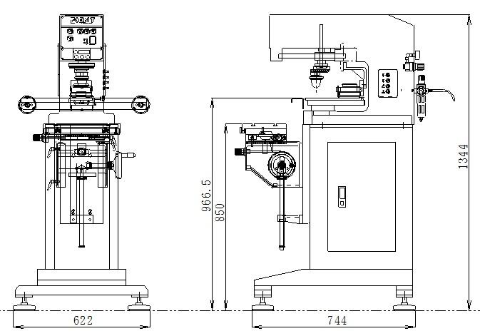 HVA-100外形図