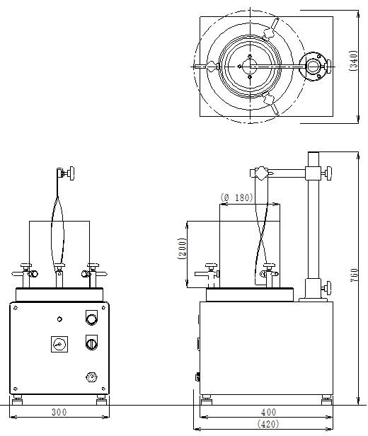 インキ撹拌器IM-5外形図