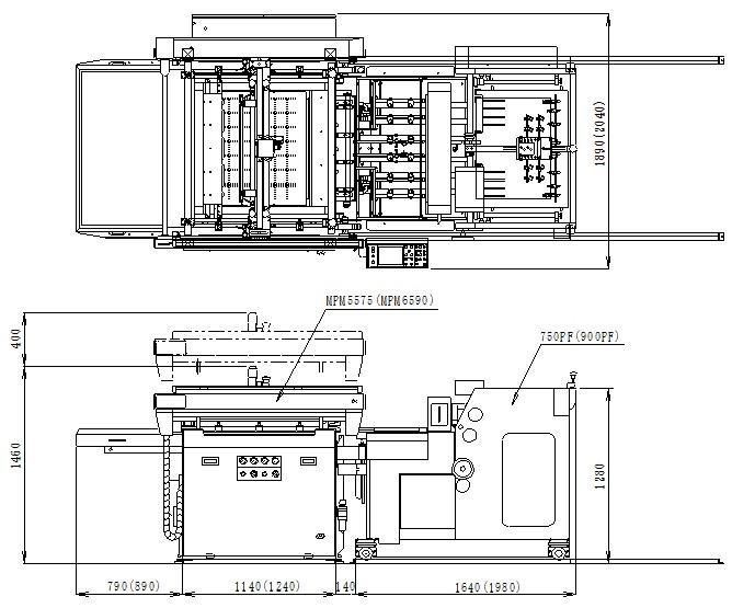 Mプリントマスター外形図