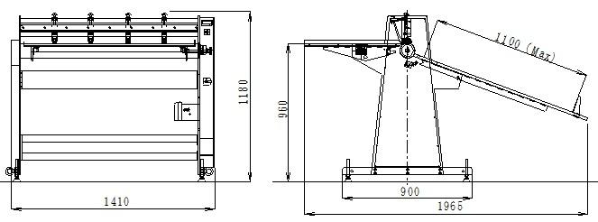 スリッターMSS-110外形図