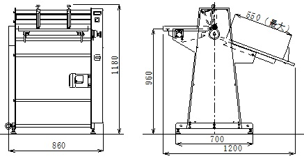 スリッターMSS-55外形図