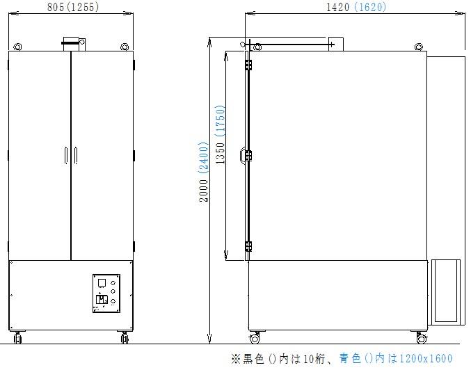 縦型乾燥機M2外形図